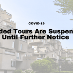 Guided Tours are suspended  Until Further Notice